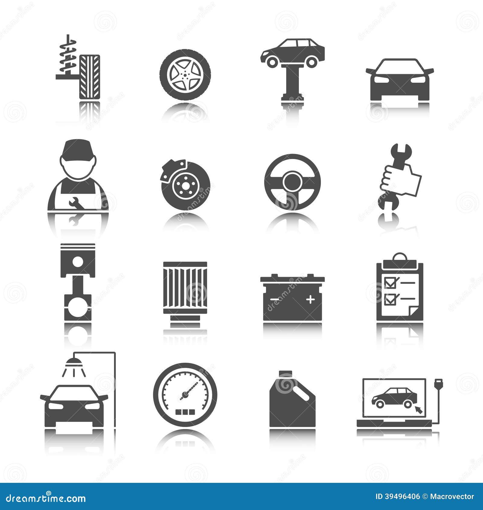 Car Garage Service Icons