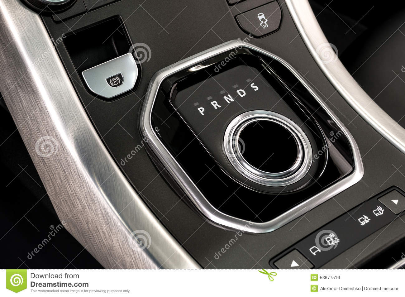 car automatic transmission and parking brake button stock photo image of brake electronic. Black Bedroom Furniture Sets. Home Design Ideas