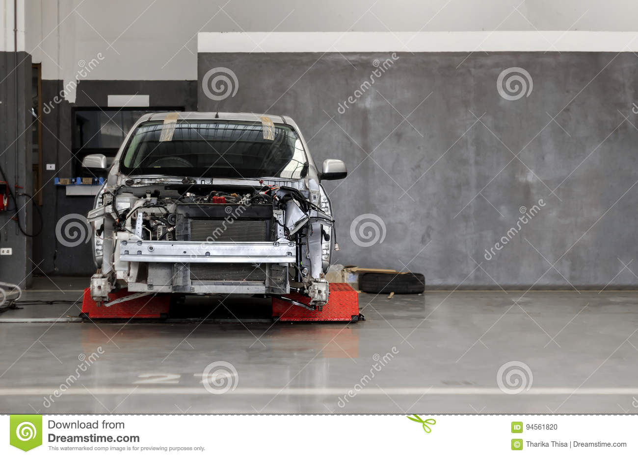 Download Car In Automobile Repair Service Center Stock Photo   Image Of  Motion, Maintenance: