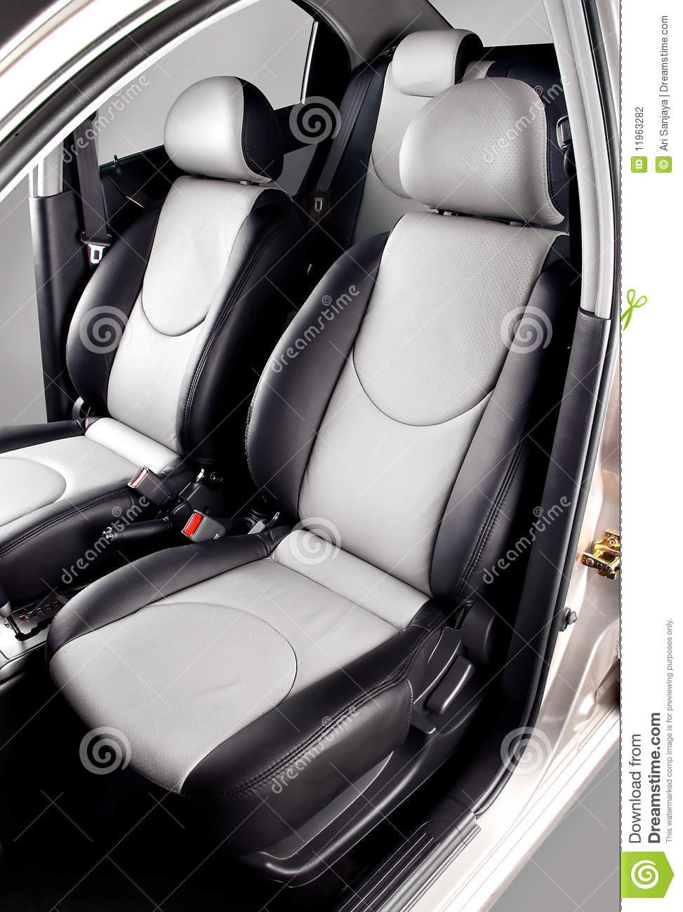 car back seats interior stock photography image 11963282. Black Bedroom Furniture Sets. Home Design Ideas