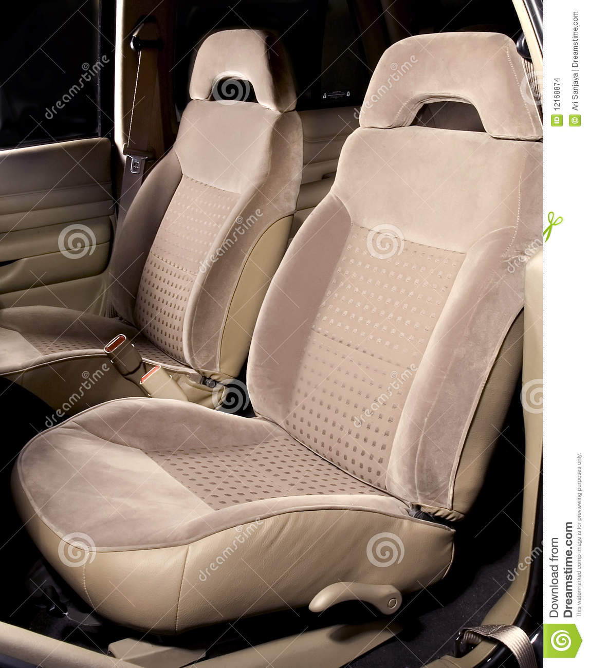 car back seats interior stock images image 12168874. Black Bedroom Furniture Sets. Home Design Ideas