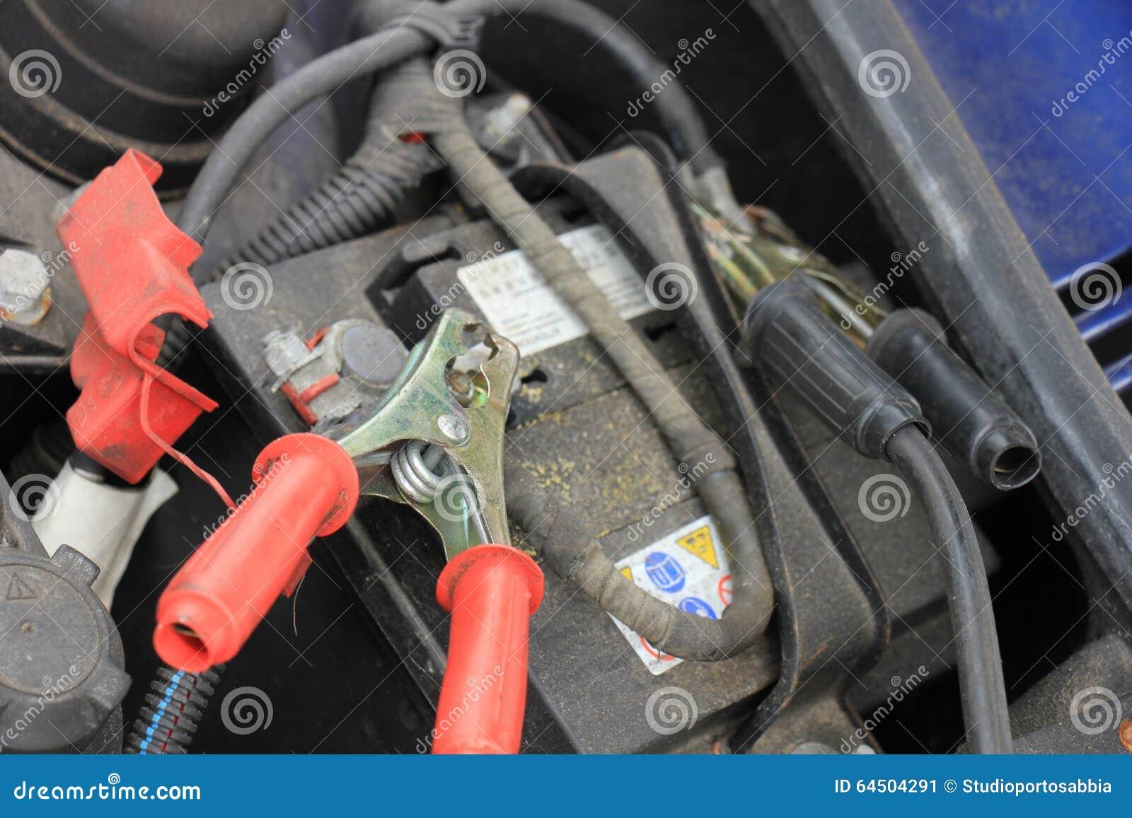 car battery charging stock image image of automotive 64504291. Black Bedroom Furniture Sets. Home Design Ideas