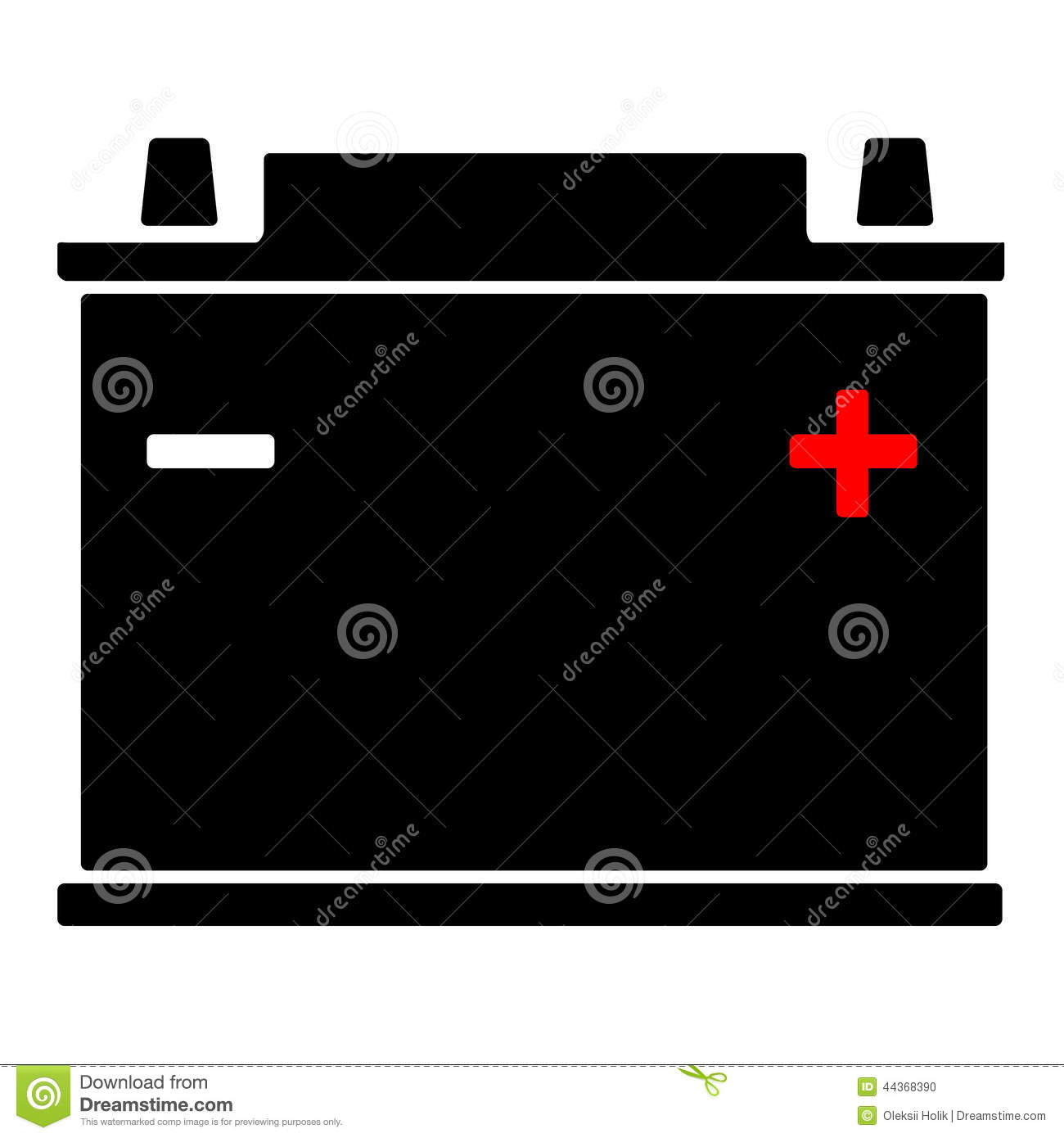 Car Battery Icon Stock Vector Image 44368390