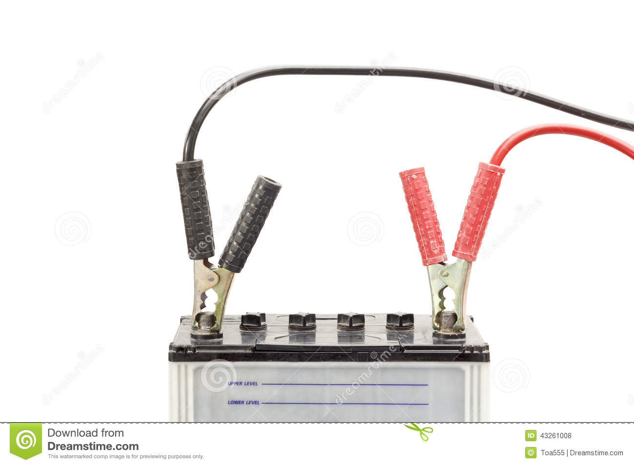 Jumper Cable Background : Car battery with jumper cables stock photo image of