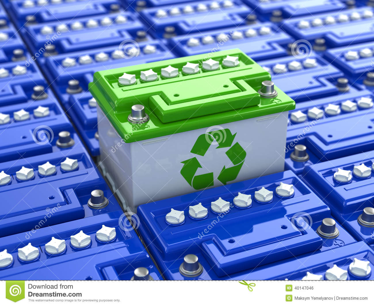 Car Battery Recycling Green Energy Background From