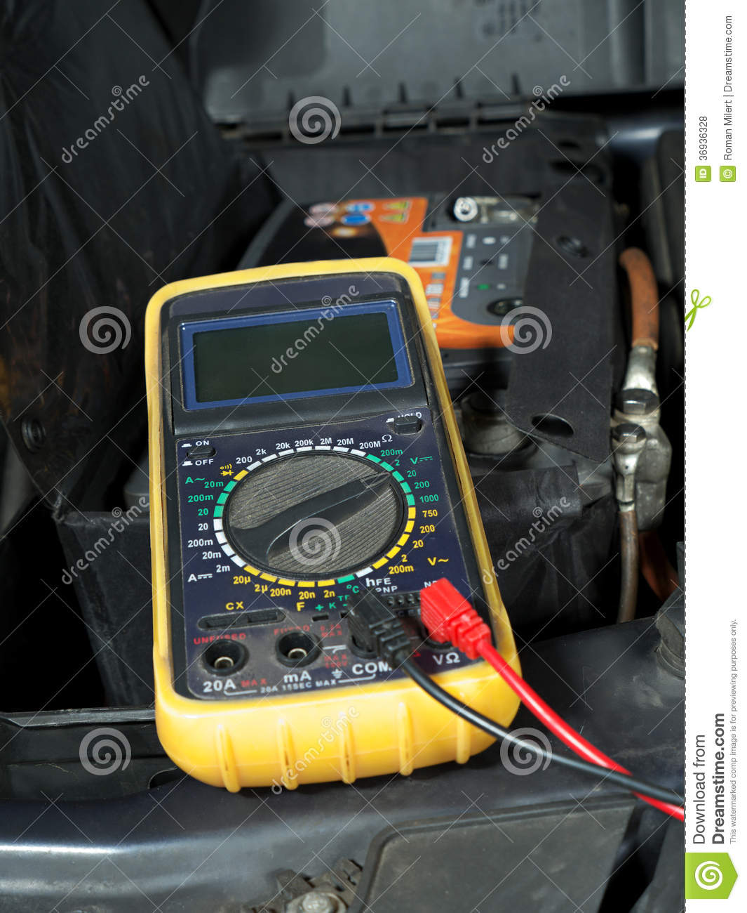 Voltage Meter Settings For Car Battery