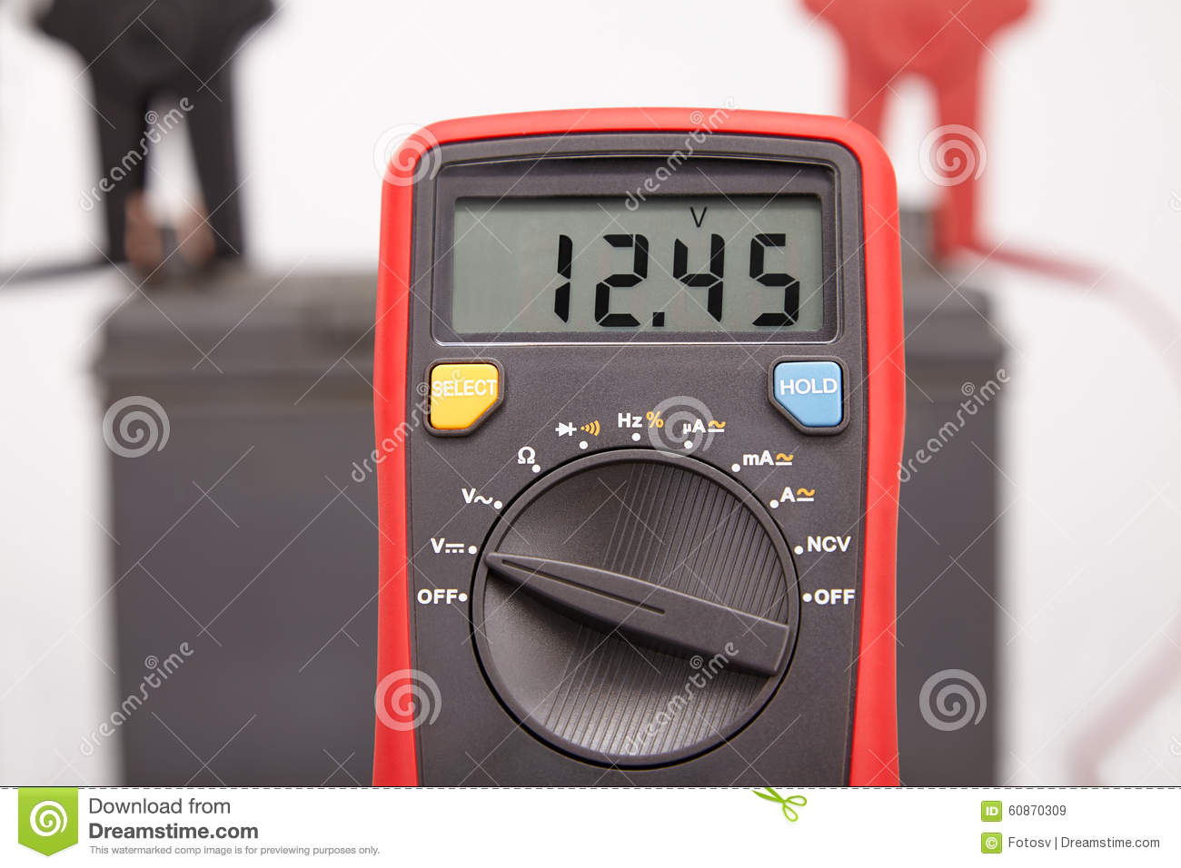 Car Battery Voltage Stock Image Image Of Terminal Aged 60870309