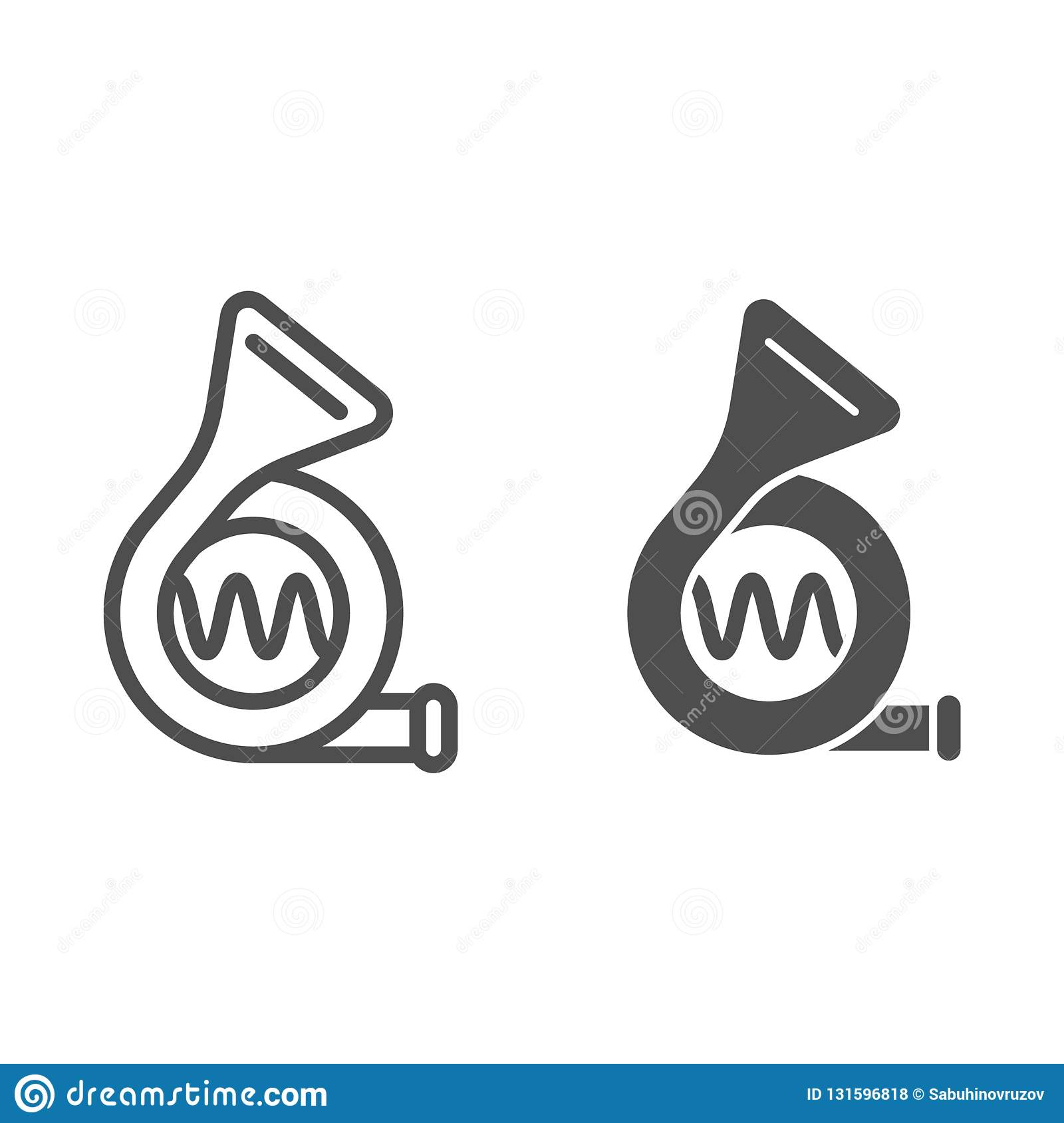Car Beep Line And Glyph Icon Signal Vector Illustration Isolated On White Klaxon Outline Style Design Designed For Stock Vector Illustration Of Design Brass 131596818