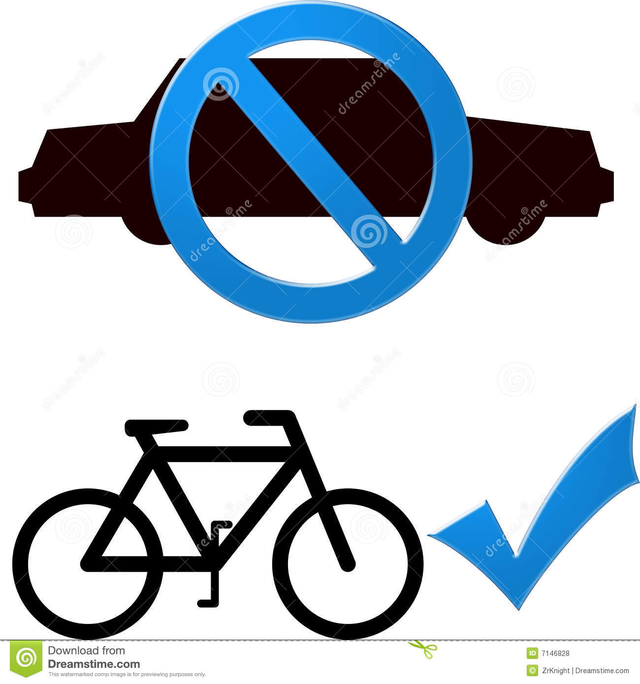 Car And Bicycle Royalty Free Stock Photos Image 7146828