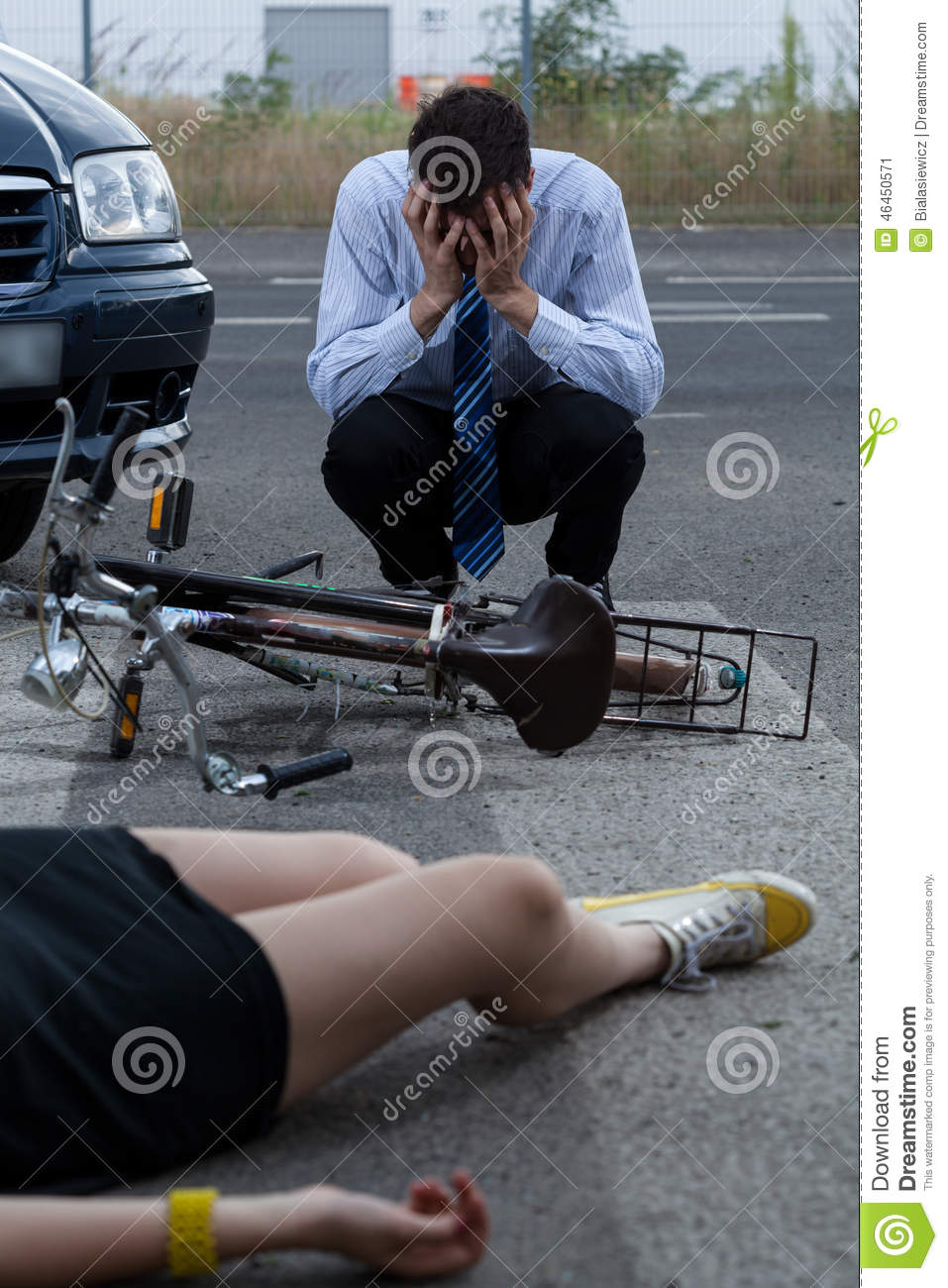 Car bike accident