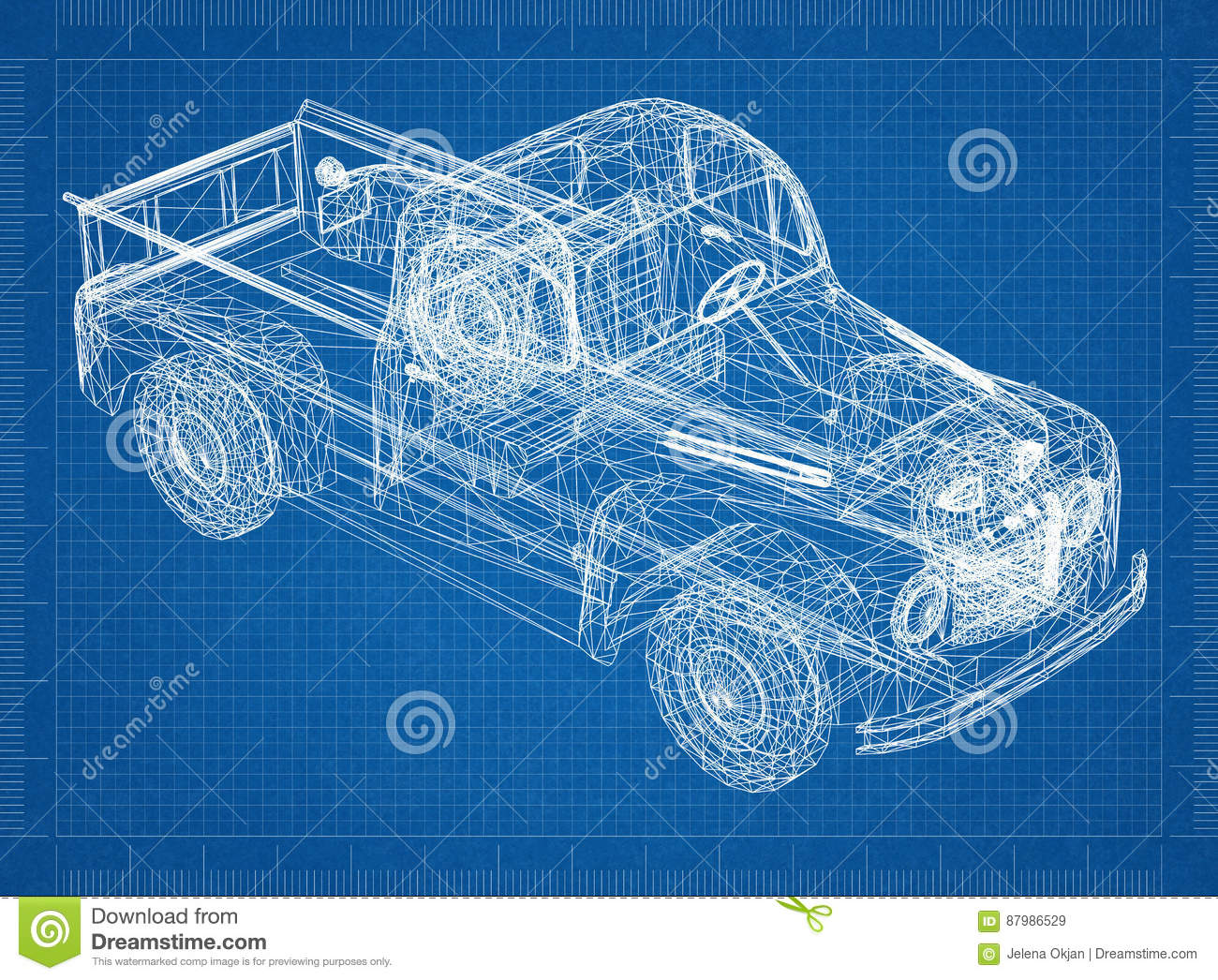 Car blueprint 3d perspective stock illustration illustration of download comp malvernweather