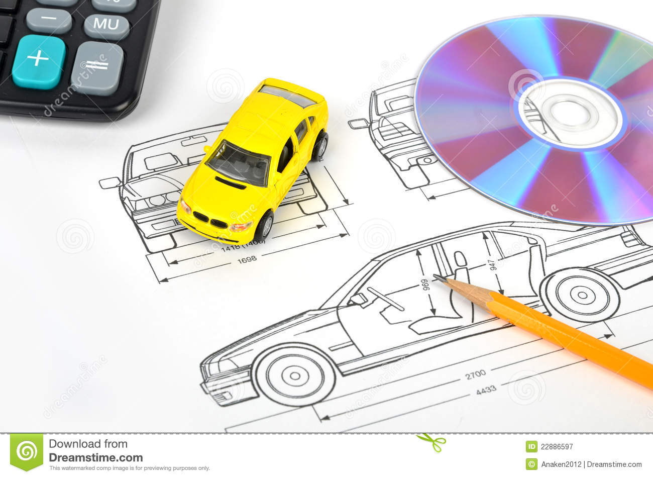 Car Blueprint Royalty Free Stock Photography Image 22886597