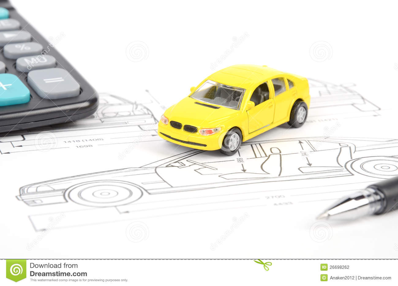 Car blueprint stock photo. Image of keyboard, fraph, model - 26698262
