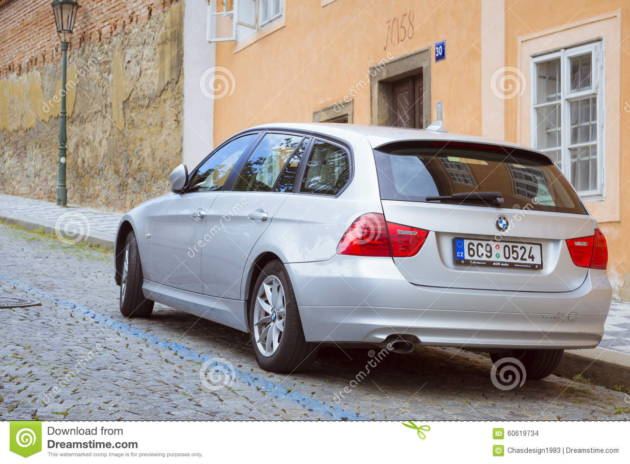 The Car Bmw Station Wagon On The Street Mala Strana Prague S Editorial Stock Image Image Of House August 60619734