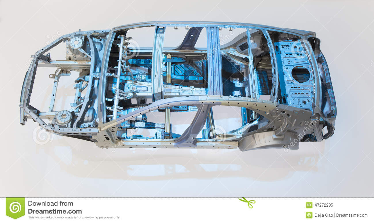 Car body frame part stock image. Image of body, indoor - 47272285