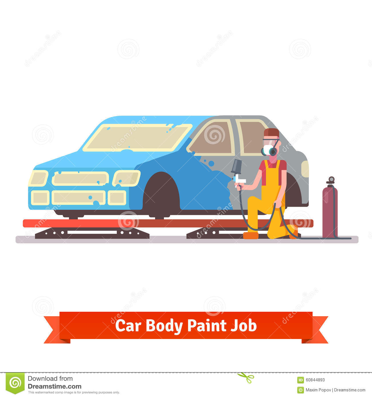 Car body paint job stock vector. Illustration of frame - 60844893