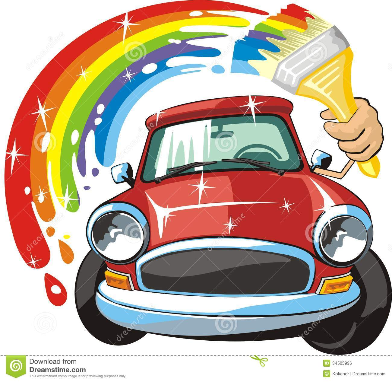 Car body paint stock vector illustration of rainbow for Body paint auto