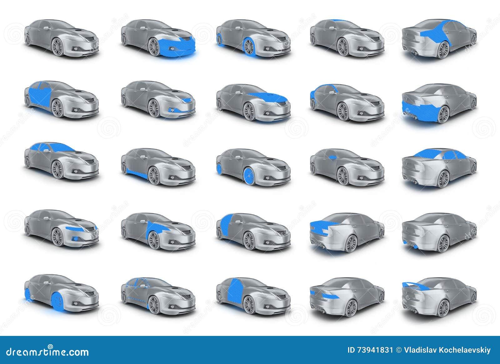Car body parts stock illustration. Illustration of vehicle - 73941831
