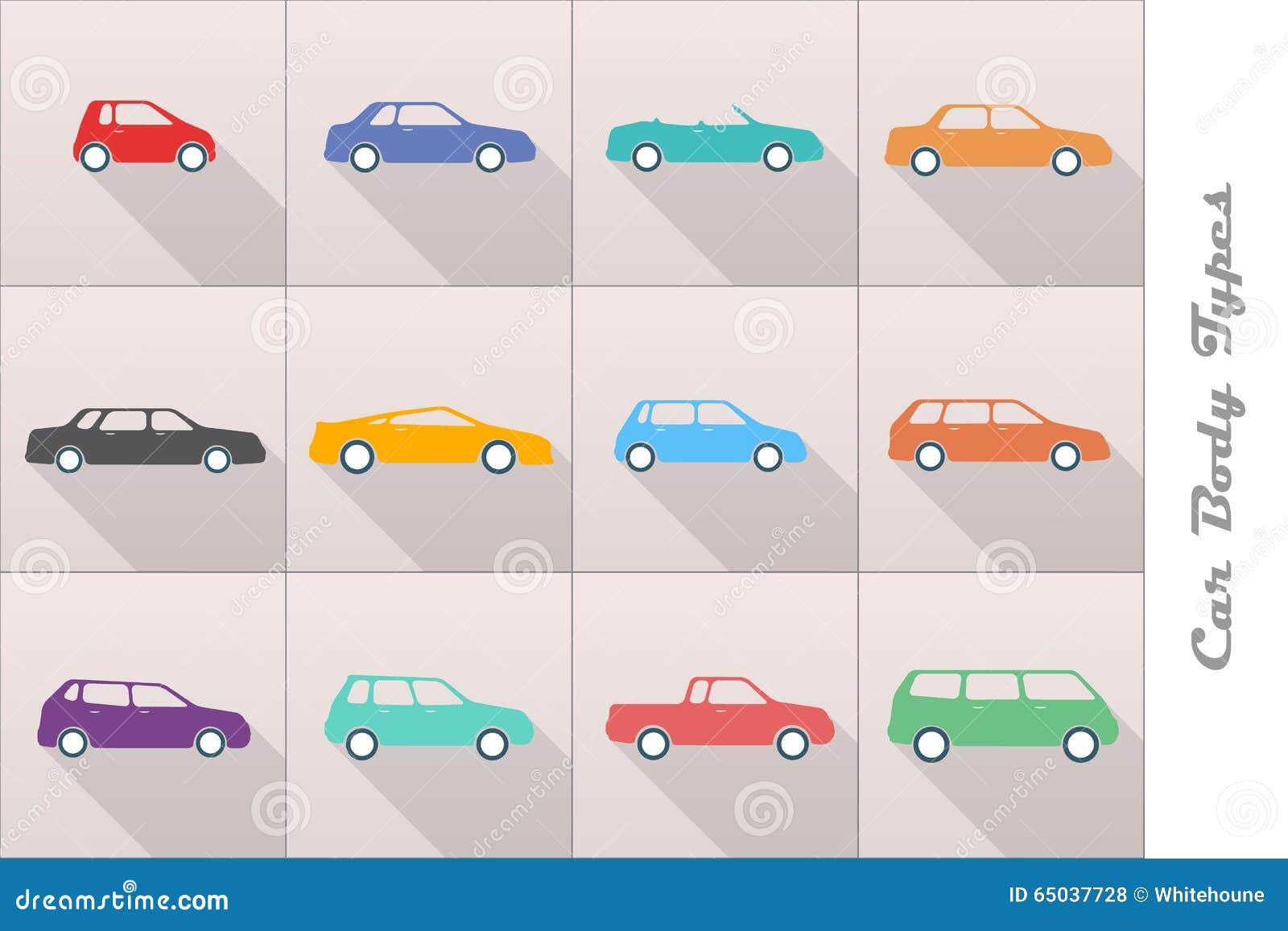 Car Body Types Stock Vector - Image: 65037728