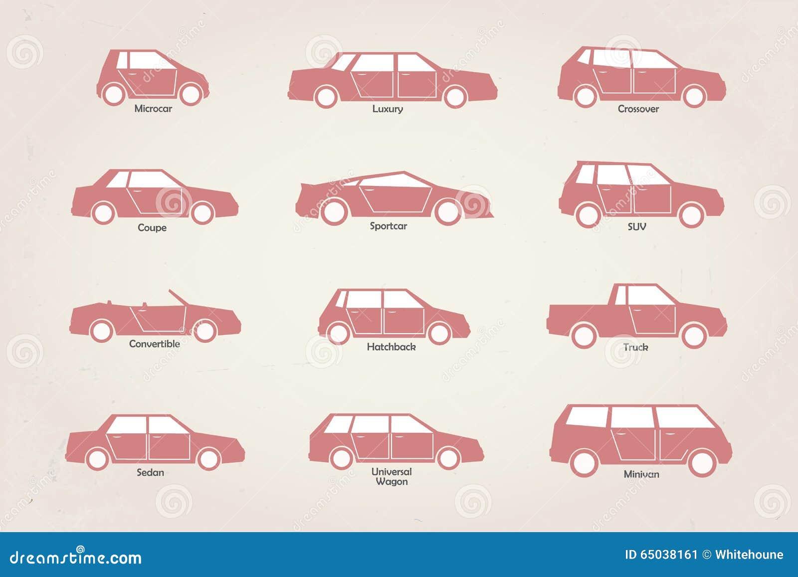 Car Body Types Stock Vector Image 65038161