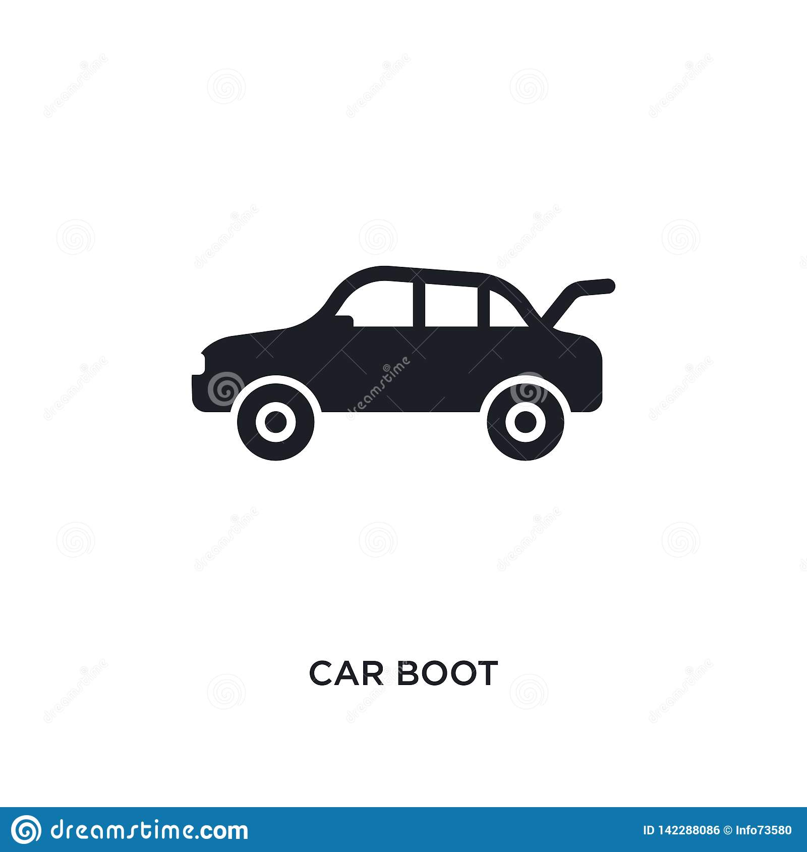 Car Boot Isolated Icon Simple Element Illustration From Car Parts