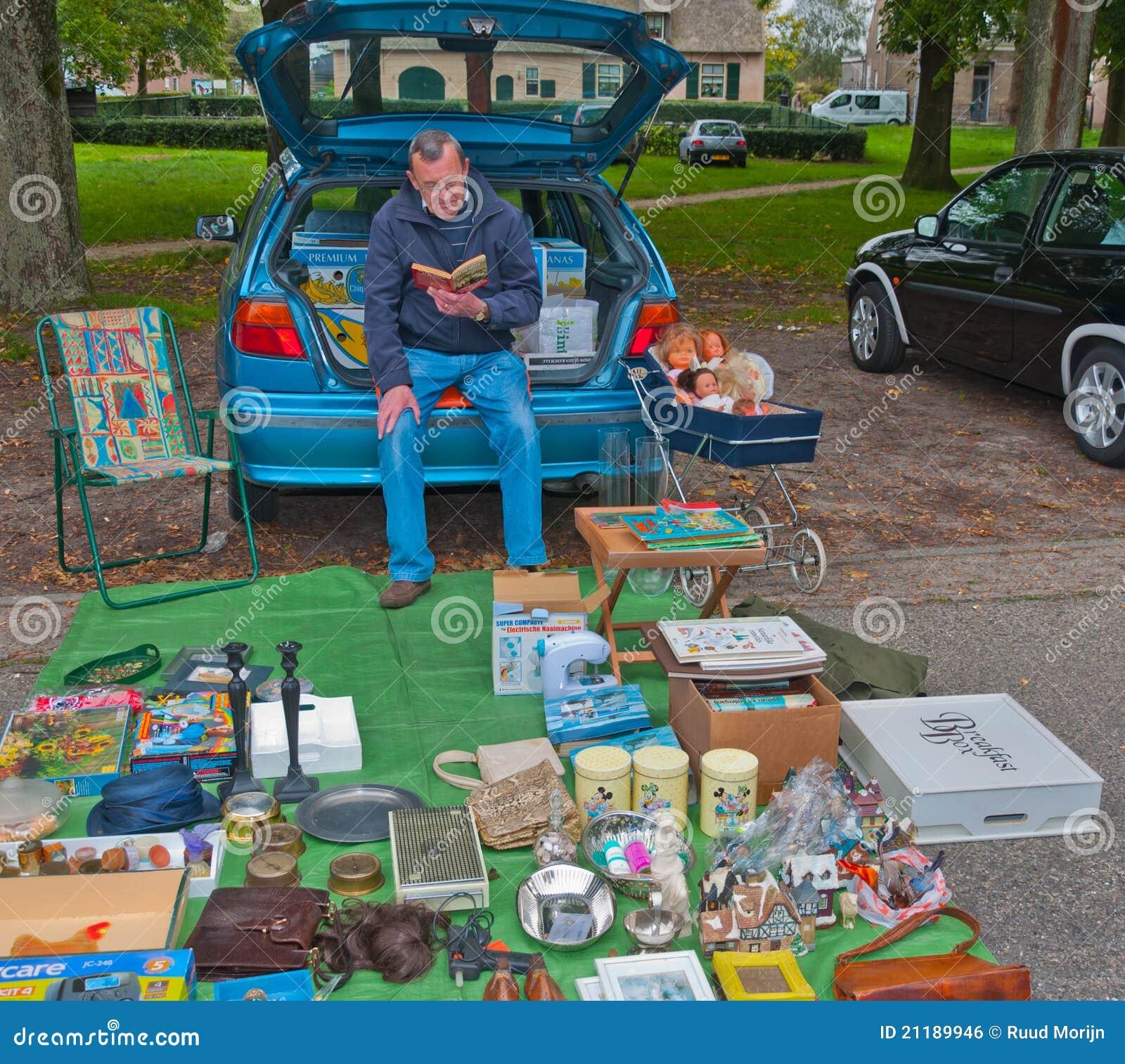 Car boot sale in a small Dutch village