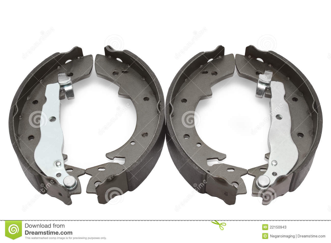 Brake Shoe Thickness In 32nds : Car brake shoes stock image of service
