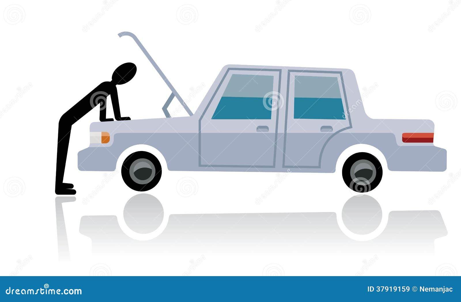 car breakdown man looking at broken car royalty free stock images image 37919159. Black Bedroom Furniture Sets. Home Design Ideas