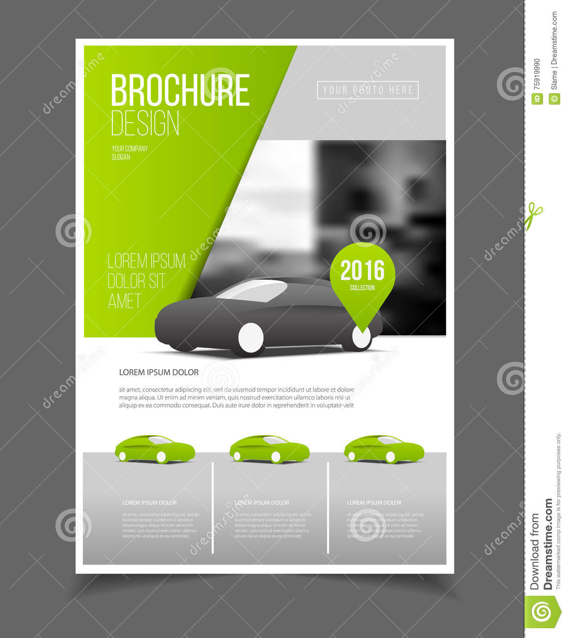 Car brochure auto leaflet brochure flyer template a4 size for Car brochure template