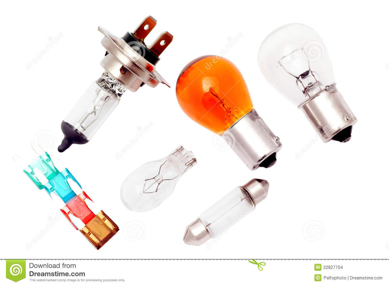 Car bulbs and fuses.