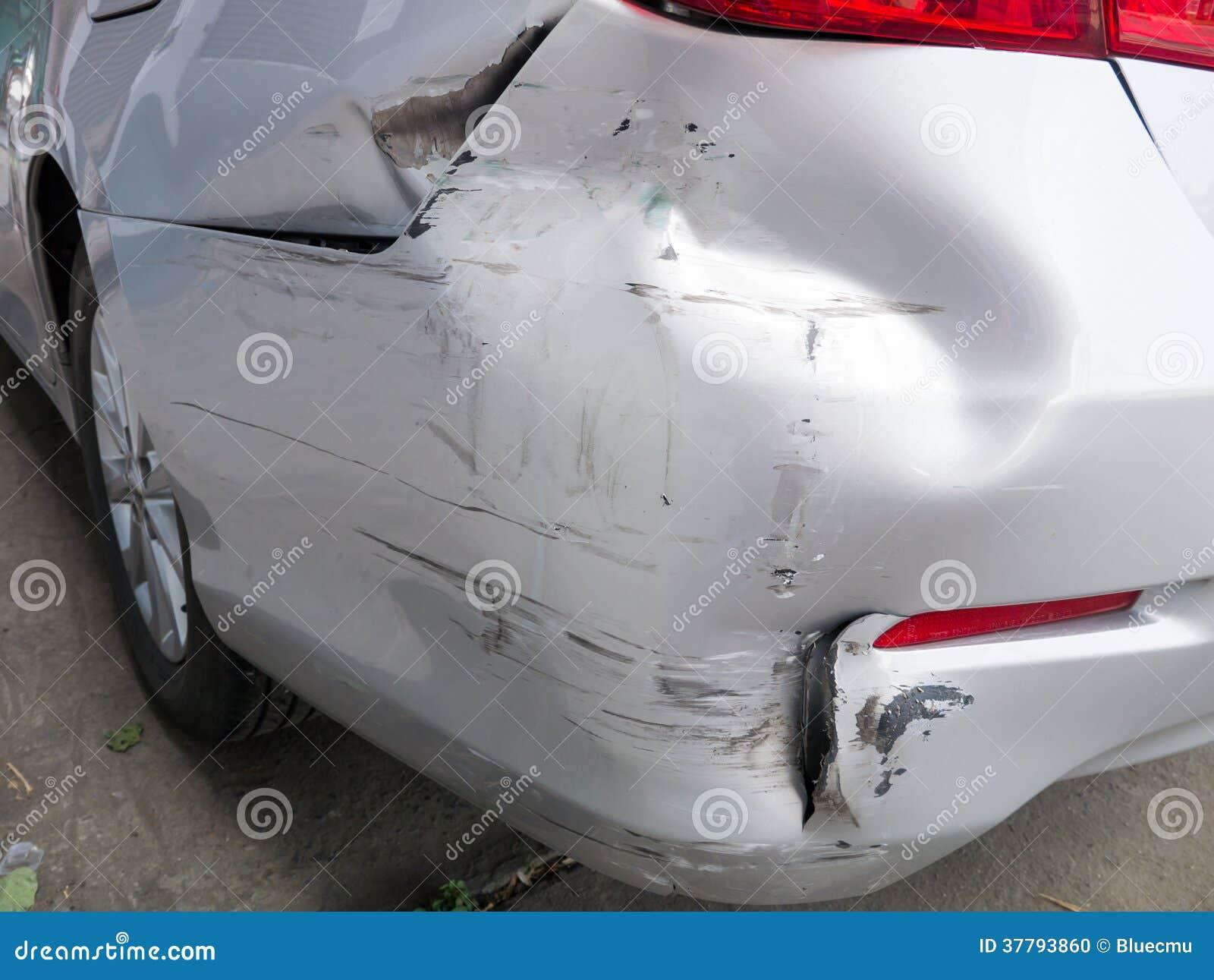 Car bumper damage