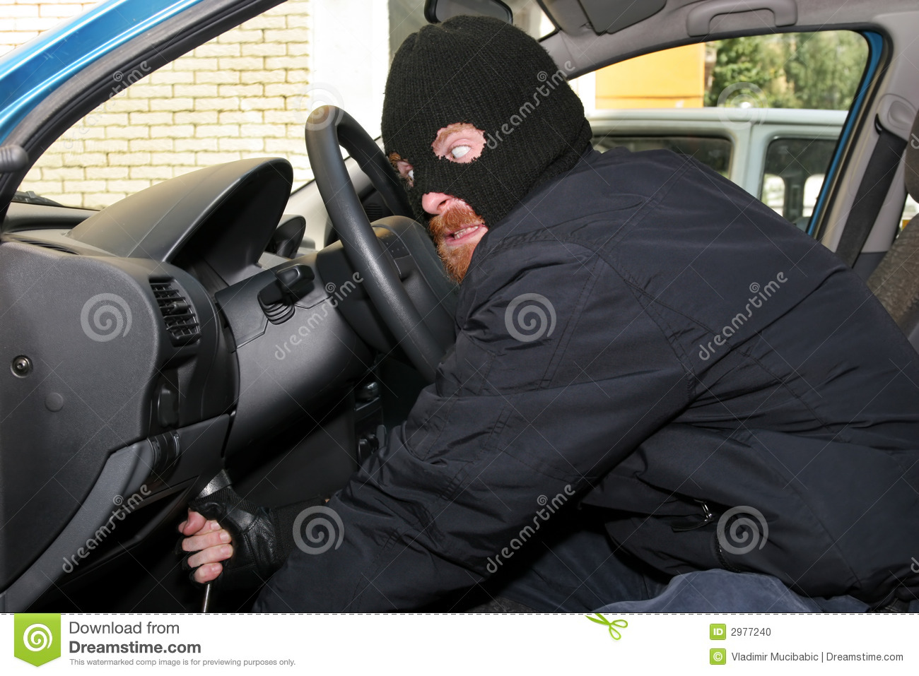 Car Burglary Stock Photo Image 2977240