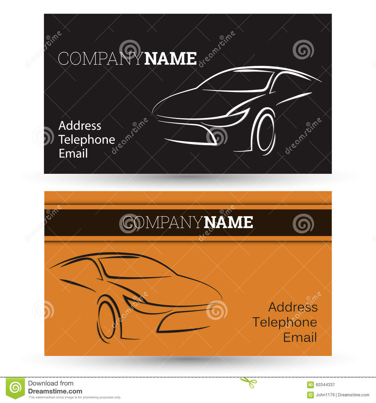 Stock Illustration Car Business Card Vector Image60344337