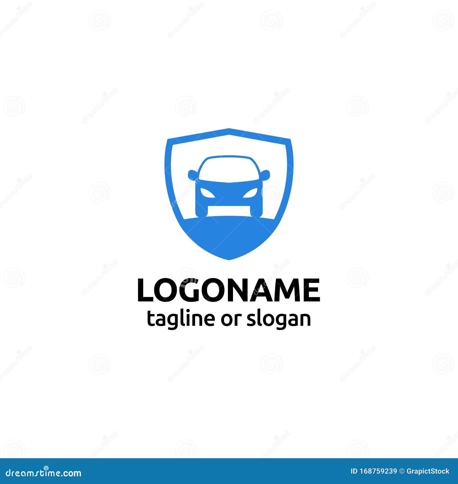 Car Care Protection Logo Design Template Stock Vector ...