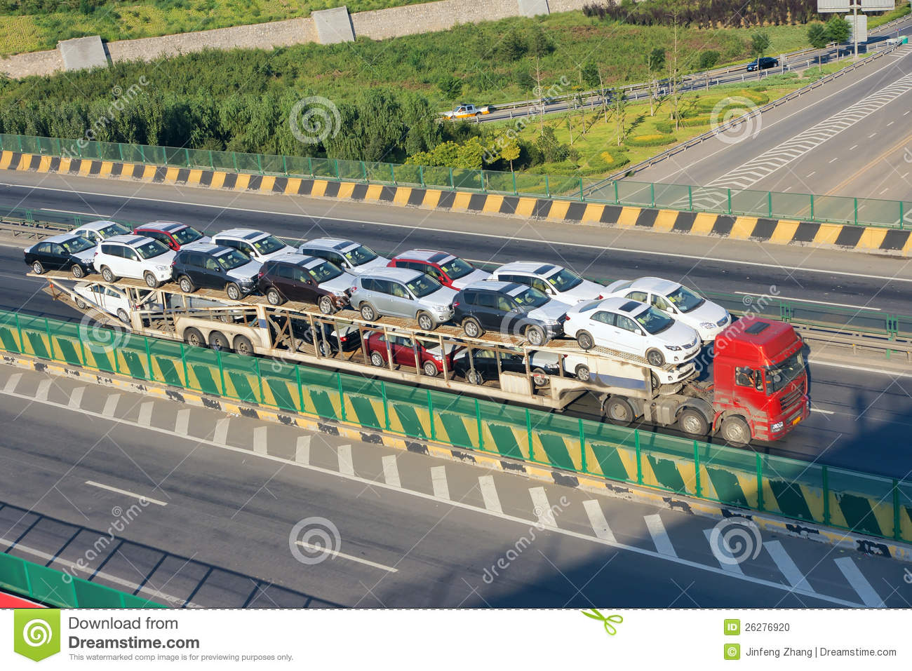Car carrier truck stock photo image of carriage for Car carriage