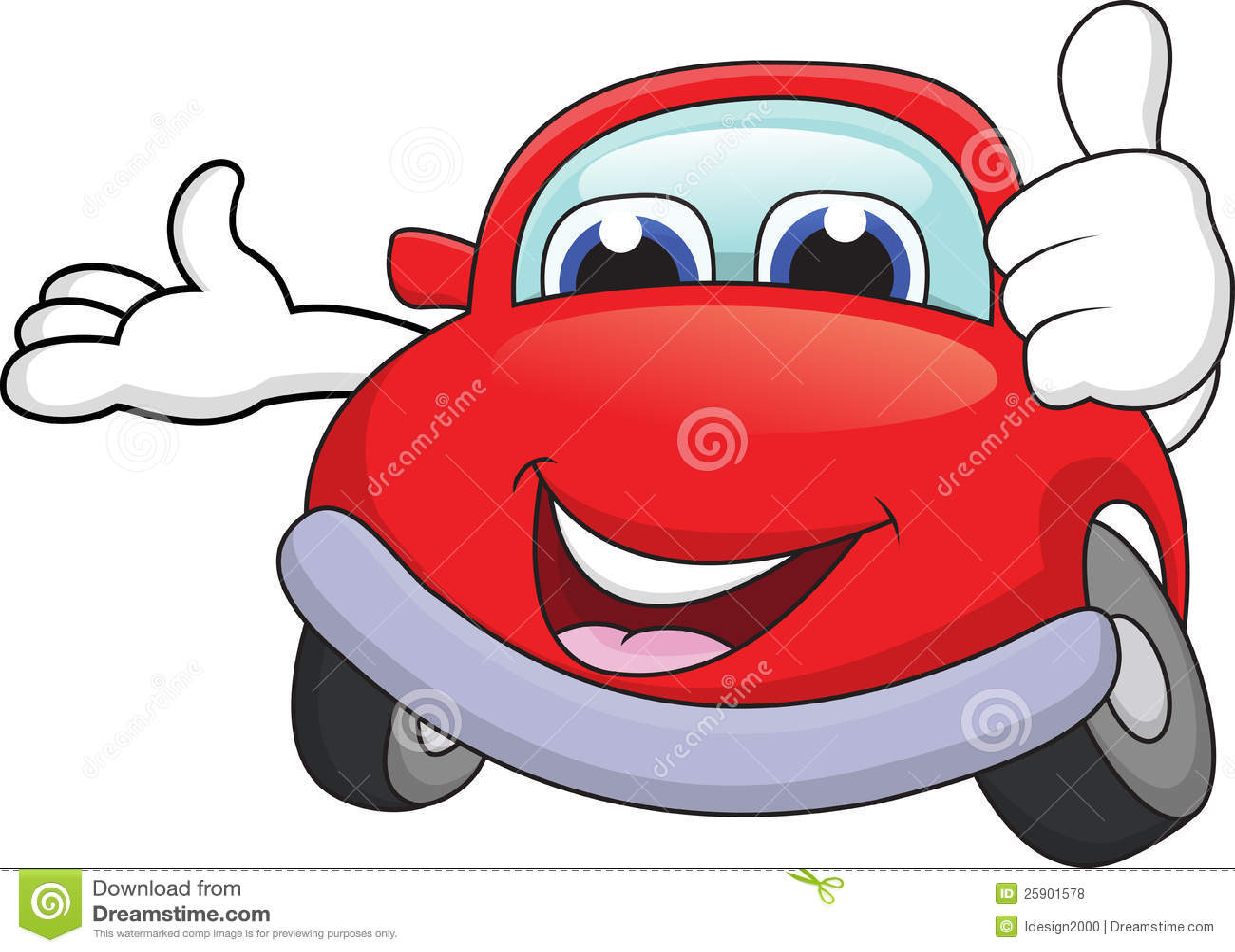 Royalty Free Stock Photos: Car cartoon with thumb up. Image: 25901578
