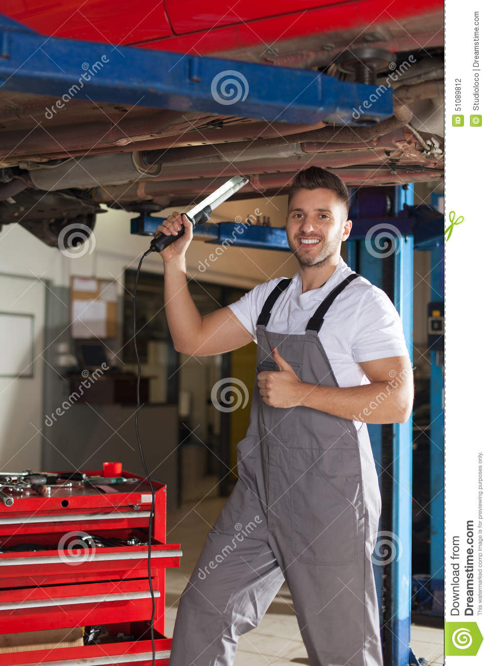 car chassis inspection approved stock photo image of auto machinist 51089812. Black Bedroom Furniture Sets. Home Design Ideas