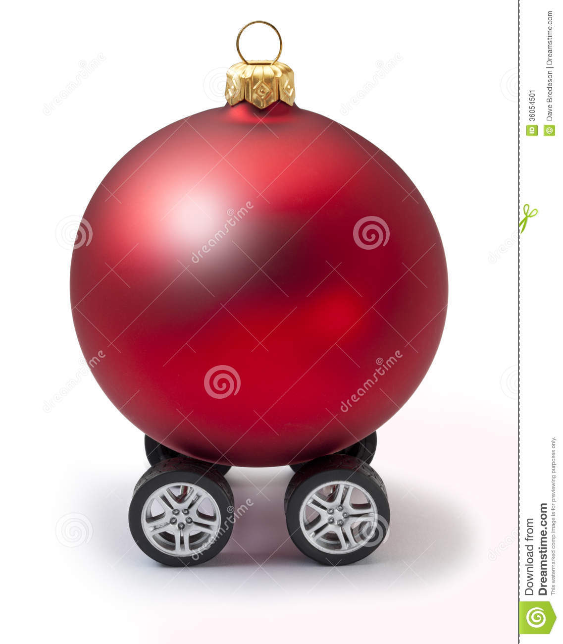 Automotive Car Christmas Ornament Red Vacation