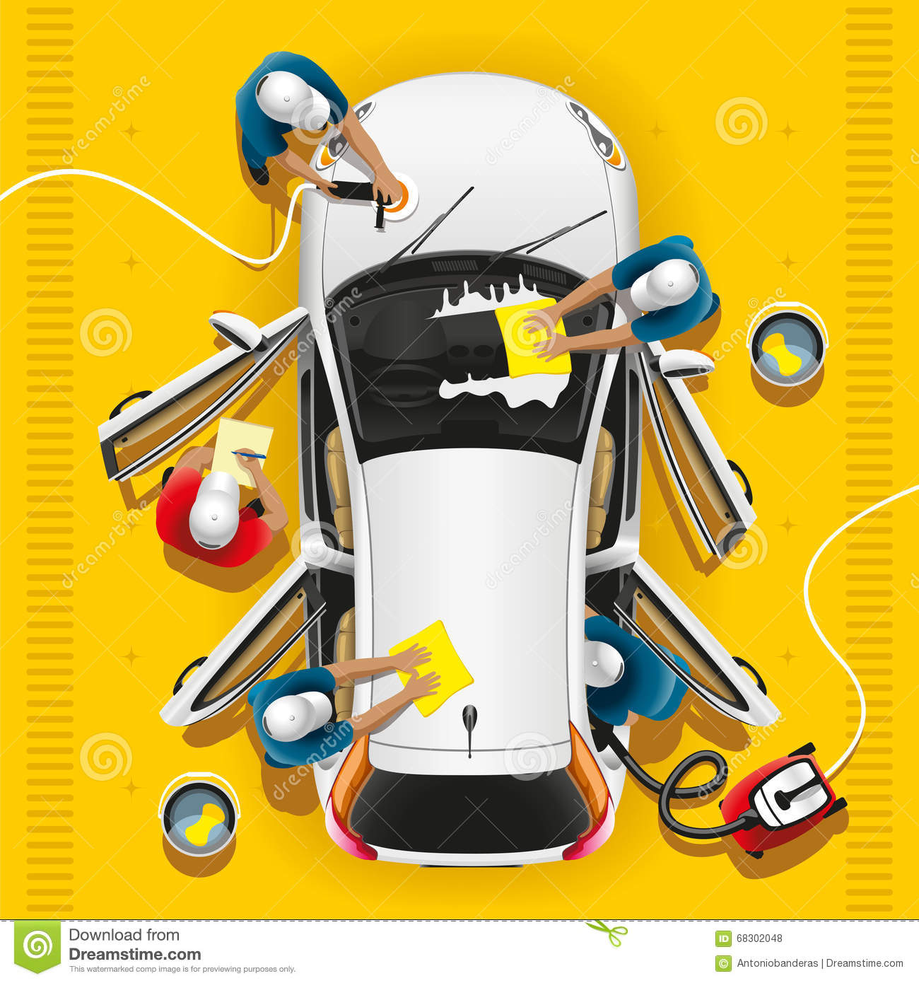 Car Clean And Wash Stock Vector Image Of Complex