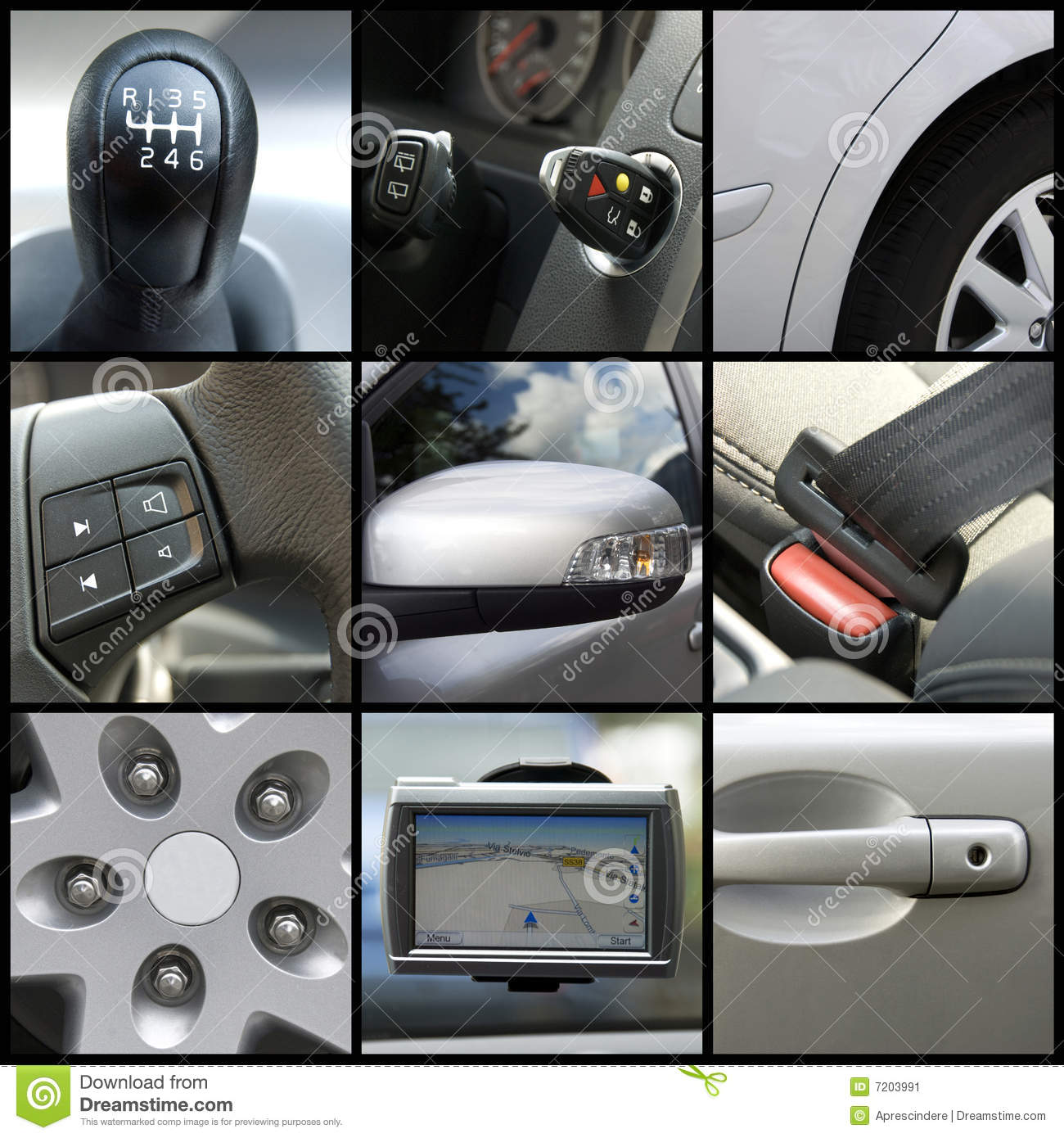 Car collage stock image. Image of cars, headlight, grill - 7203991