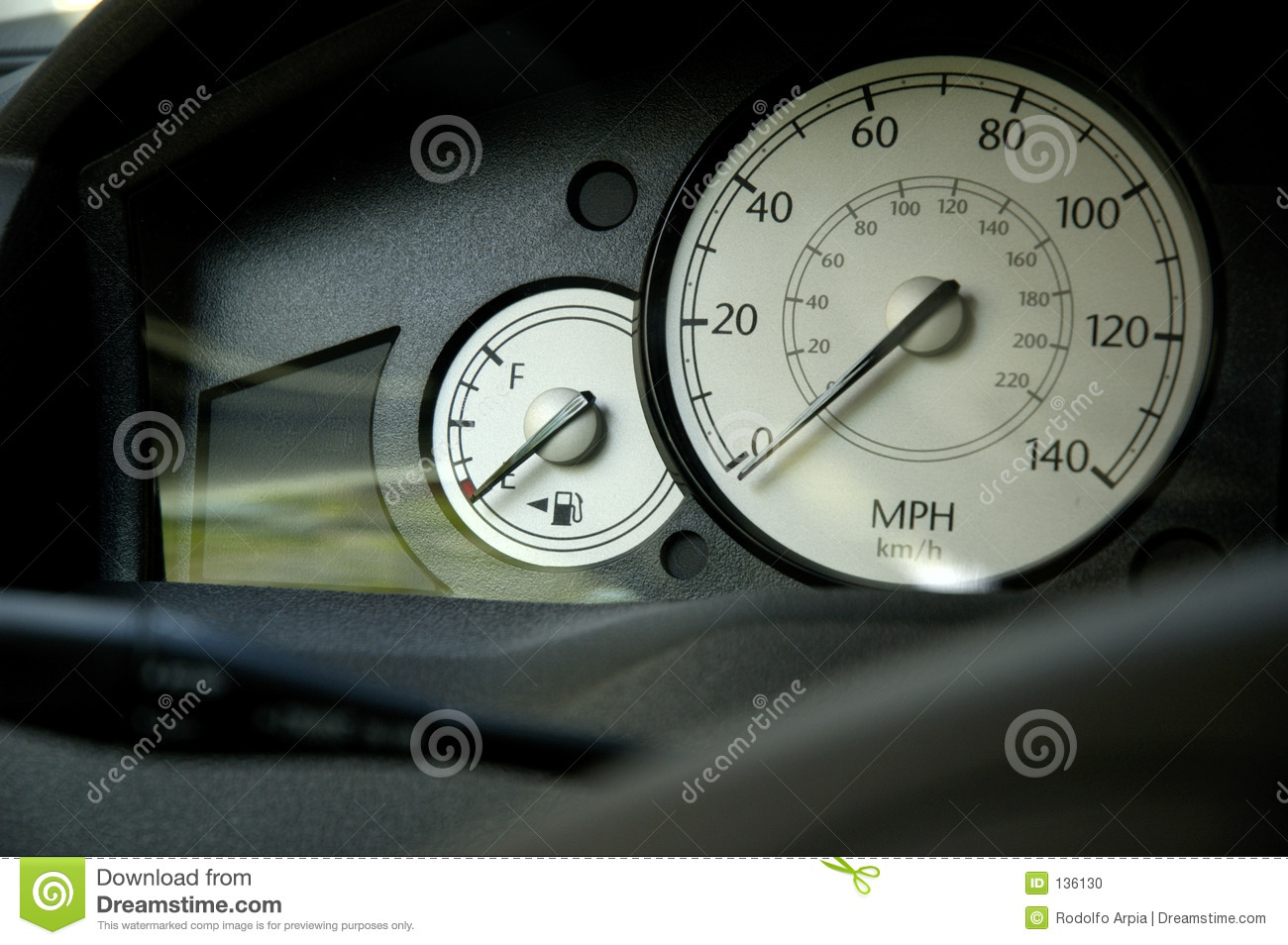 Vehicle Control Panel : Car control panel stock photo image