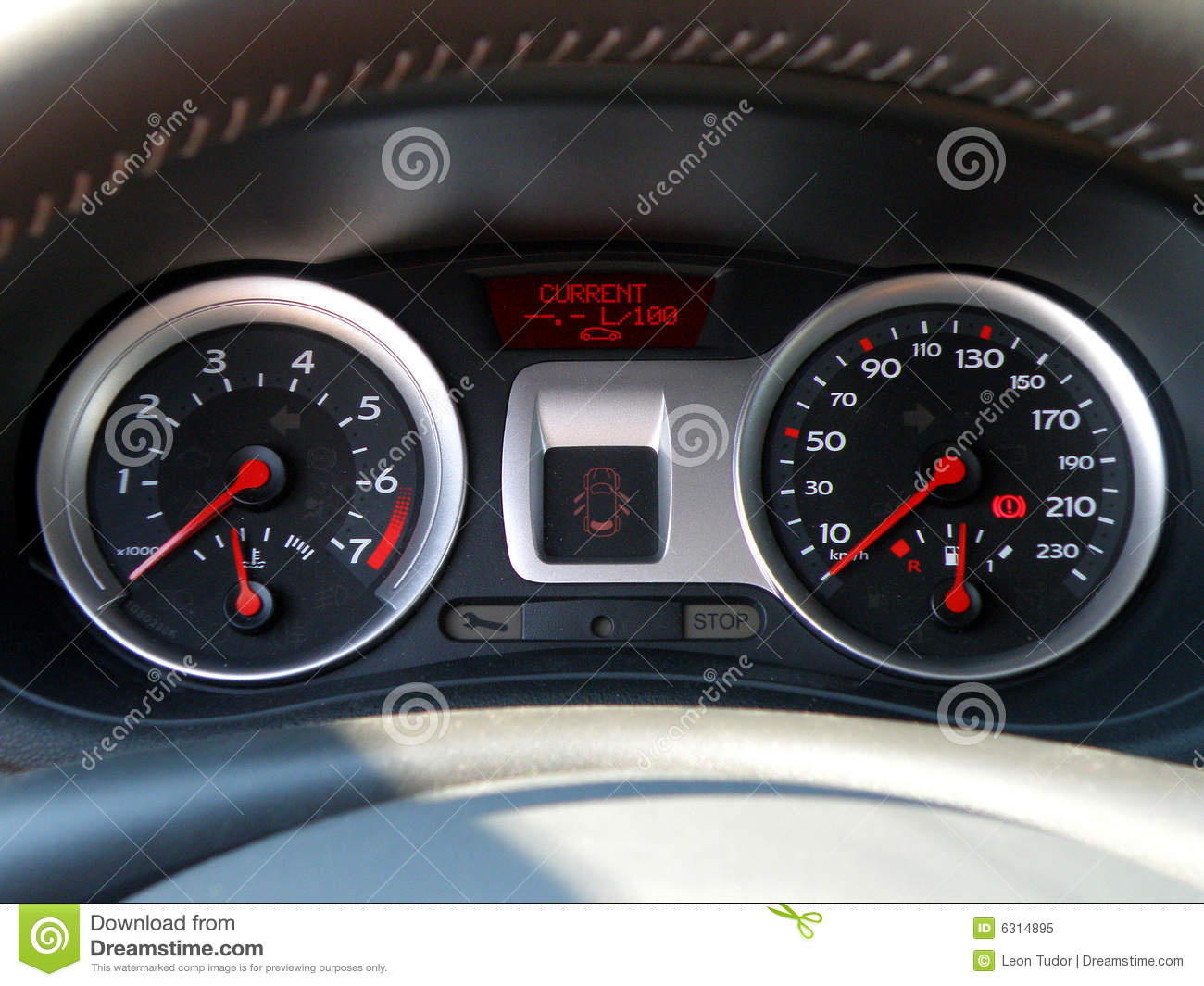 Vehicle Control Panel : Car control panel royalty free stock photo image