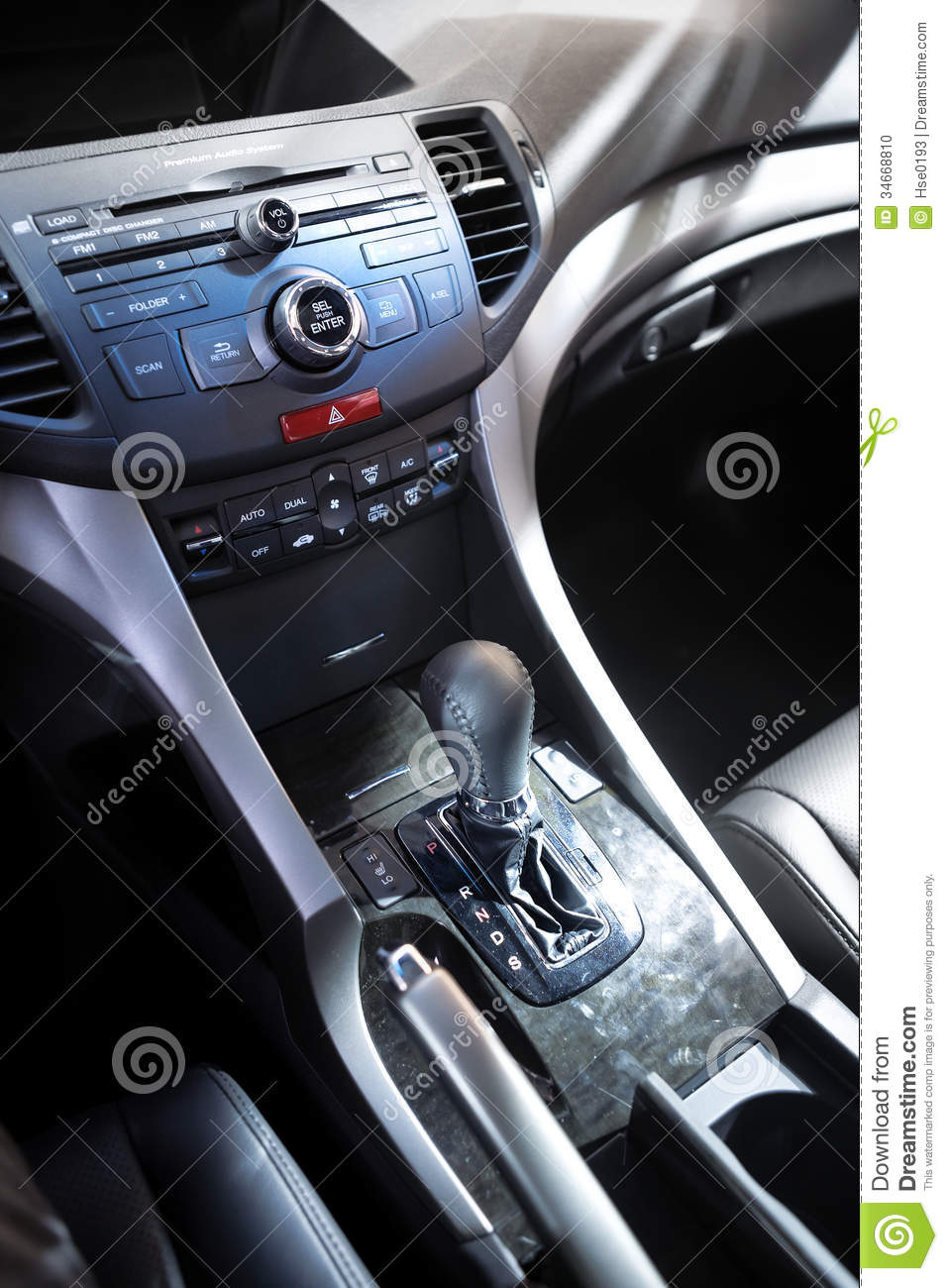 car control panel and automatic transmission stock photo image 34668810. Black Bedroom Furniture Sets. Home Design Ideas