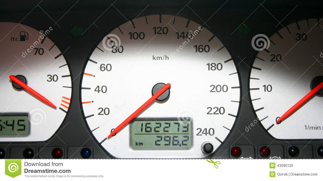 Vehicle Control Panel : The car control panel dials of white color with stock