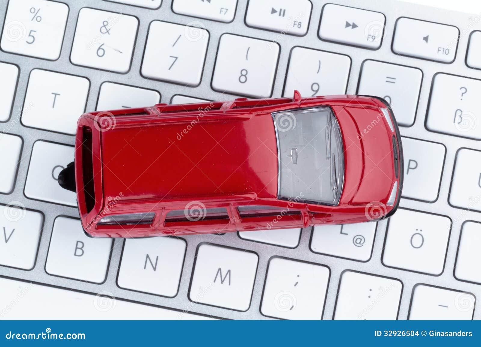Car on copmputertastatur