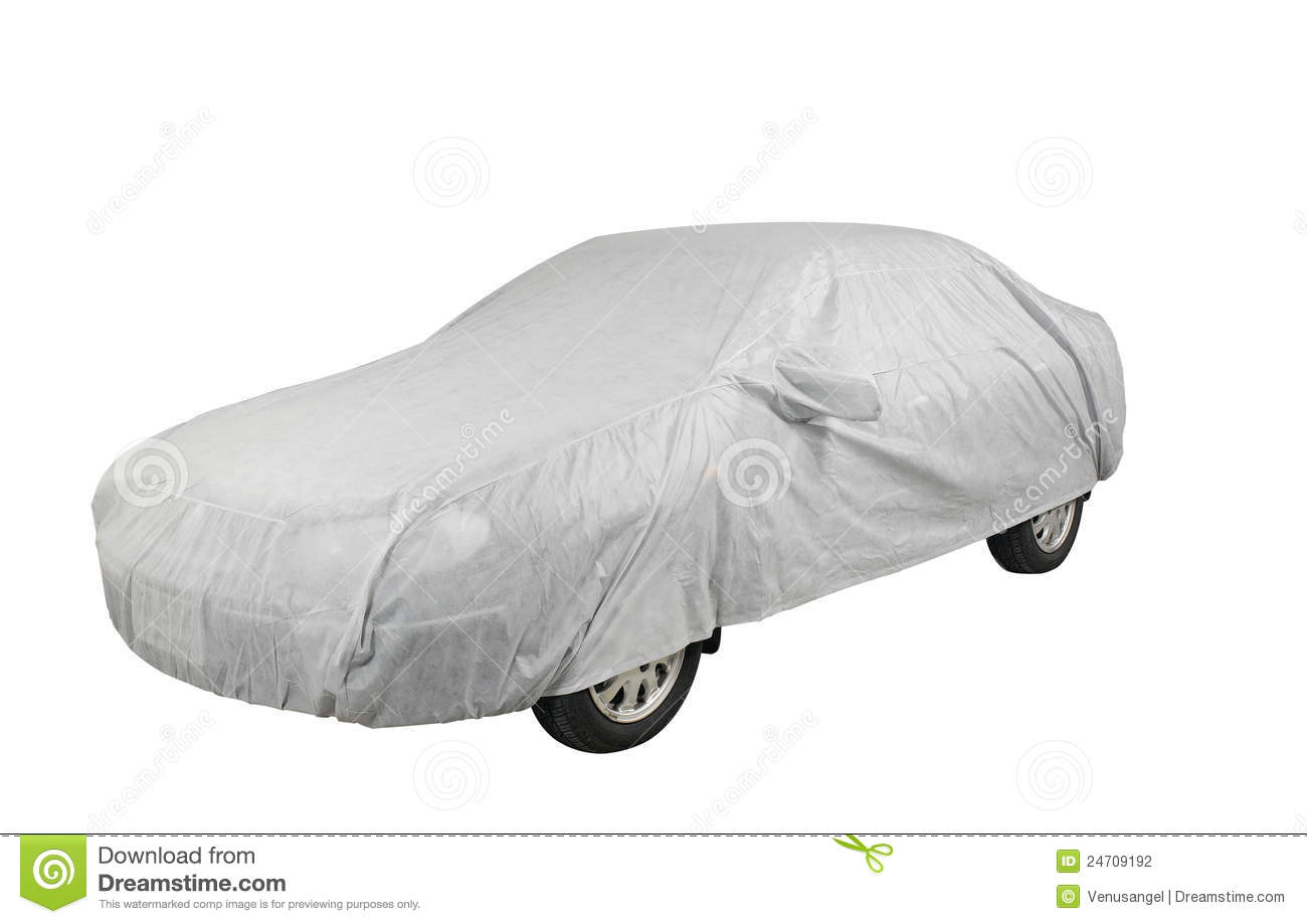 car cover sheet stock photo image of automobile plastic 24709192