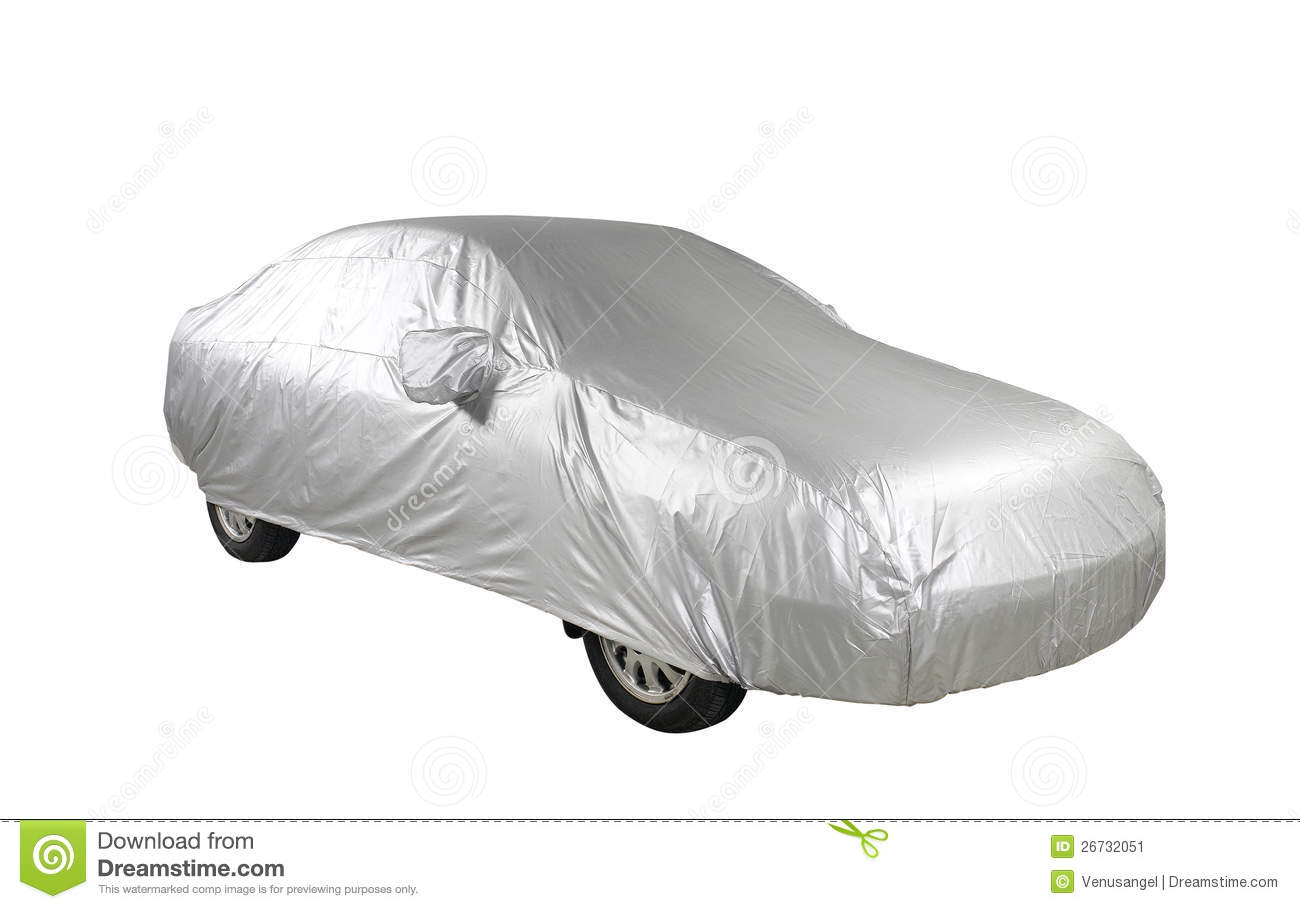 Car With Cover Sheet Stock Image Image Of Damp