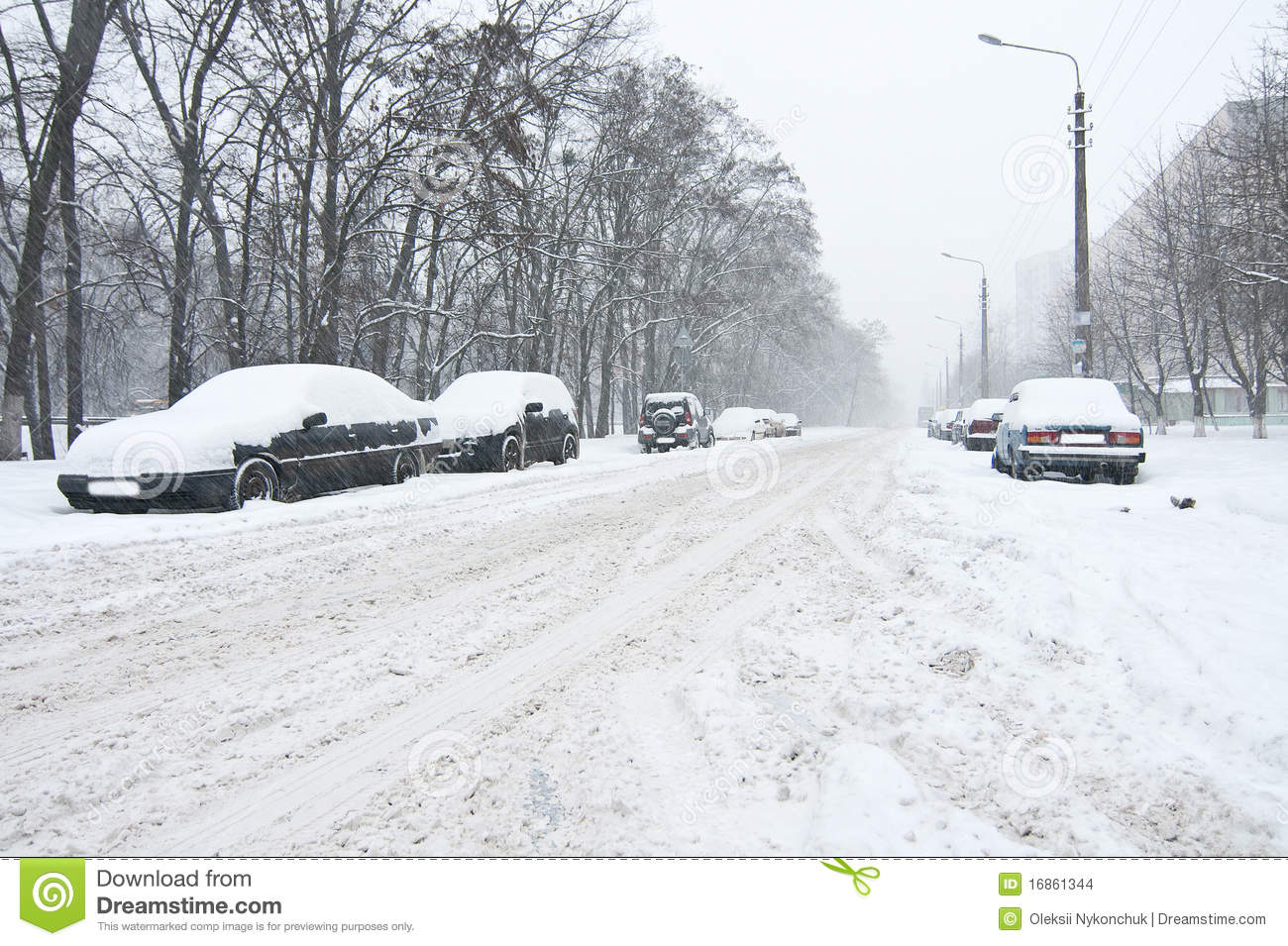Car Covered In Snow : Car covered in snow stock images image