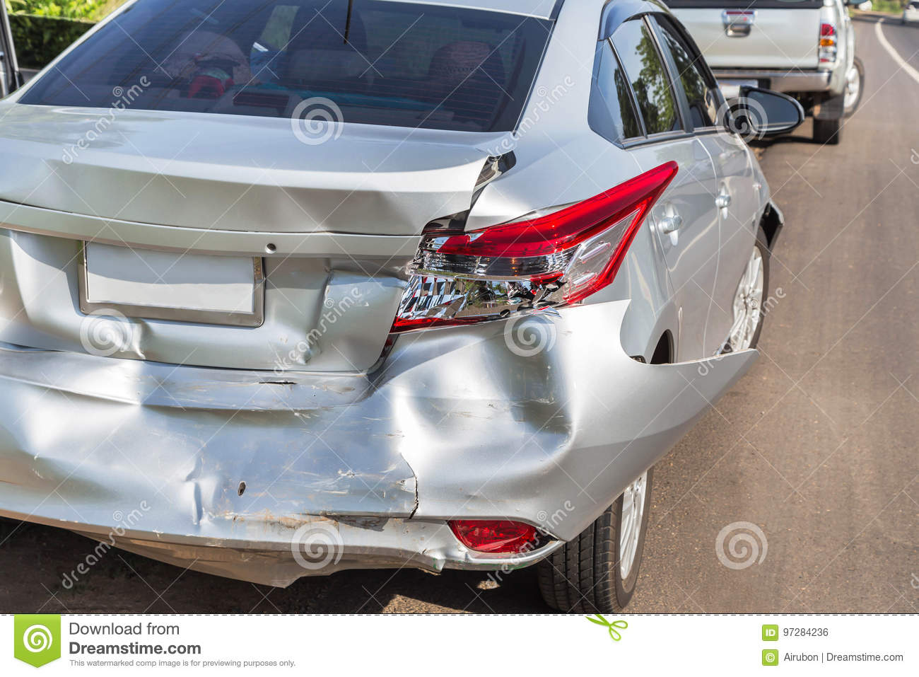 Car crash accident