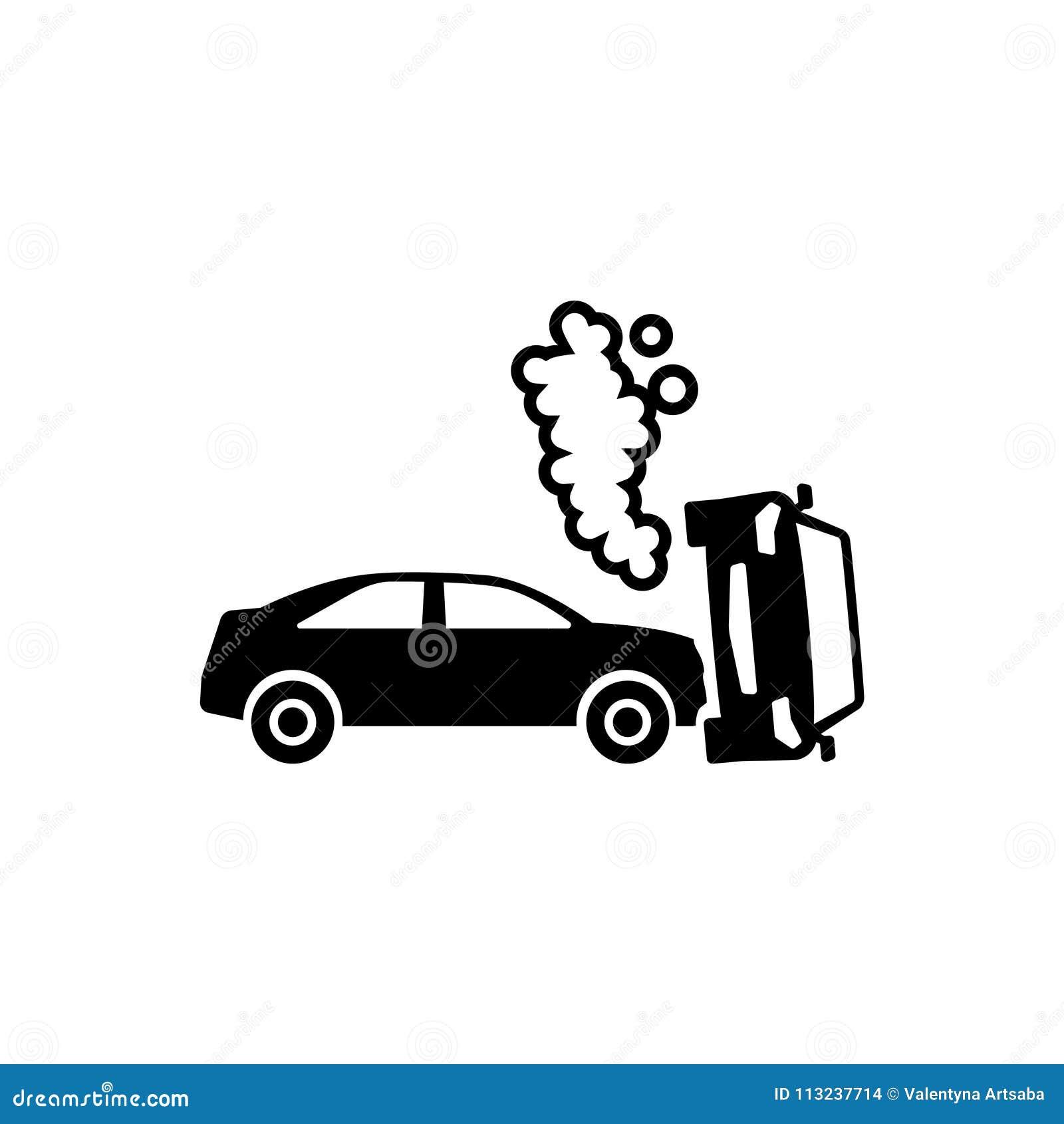 Car Crash Flat Vector Icon stock vector. Illustration of graphic ...